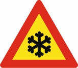 Ice - road sign